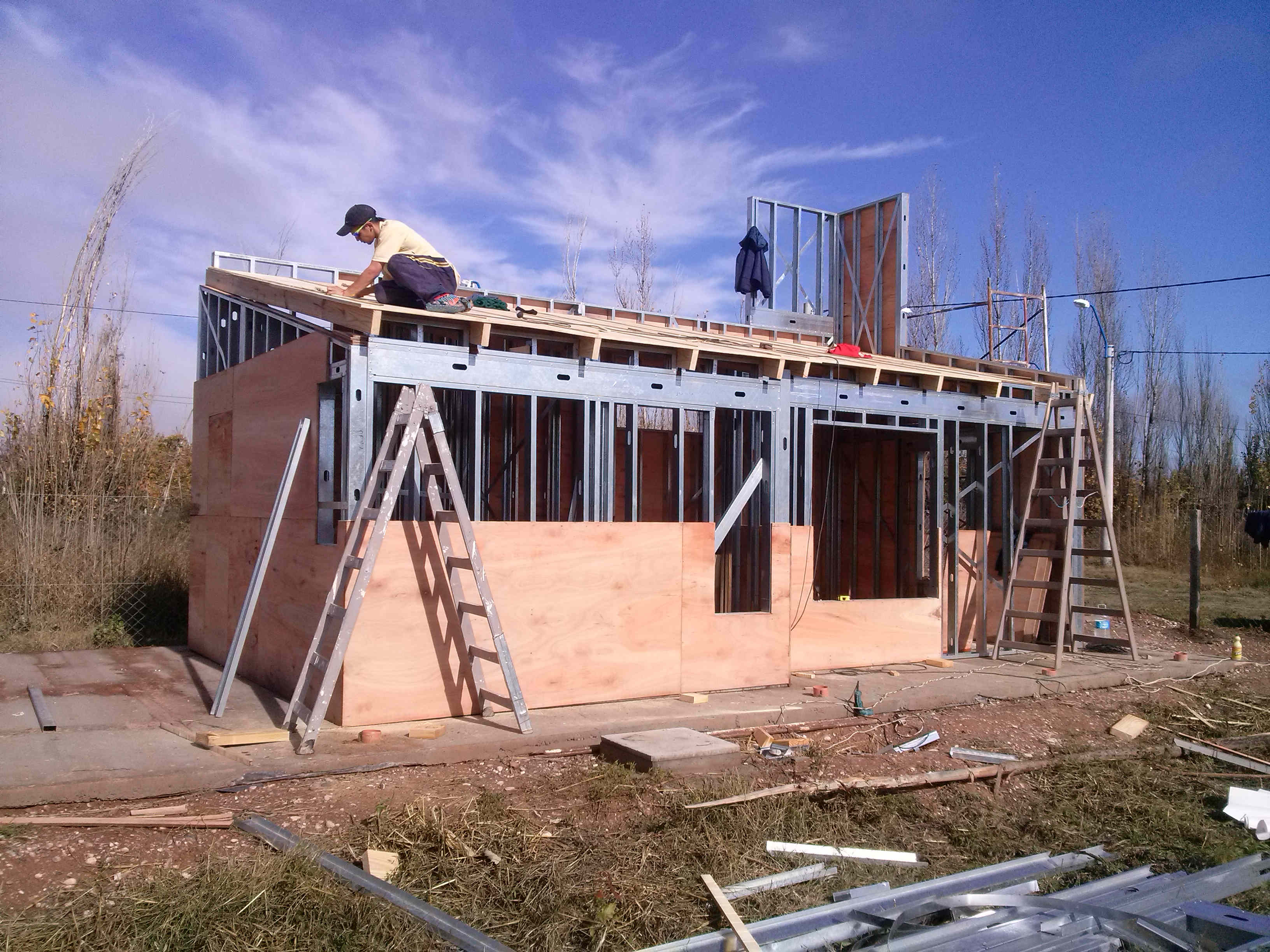 Construcci n en seco foro ver tema pregunta sobre techo for Casas con techo a un agua